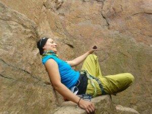 Ally beim Klettern